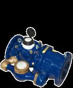 Verbundwasserzähler für Kaltwasser bis 50 °C DN 150  - Hauptzähler mit hydrodynamischer Flügelbalance - Hauptzähler mit herausnehmbarem Messeinsatz  - Feder-Kompaktventil  - Überflutungssichere Zählwerke (IP 68) - Optimaler Korrosionsschutz durch Pulverbeschichtung - Schrauben aus nichtrostendem Stahl - Als Nebenzähler können alle zugelassenen Hauswasserzähler eingesetzt werden