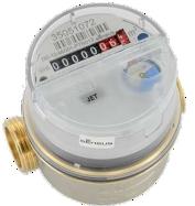 Einstrahl-Wasserzähler, Trockenläufer, Kalt- und Warmwasser  - Qȝ 2,5 - 4, DN 15 - 20, MAP (PN) 16 - Qȝ 2,5 MID Zulassung R40 bis R160 - Qȝ 4 MID Zulassung R40 bis R100 - Erfassung von geringsten Durchflüssen. - Schutz gegen externe Magnetfelder gem. EN 14 154, über den gesamten Messbereich. - optimaler Manipulationsschutz durch abgeschirmter Magnetkupplung.         - Zählwerk drehbar für eine optimale Ableseposition.